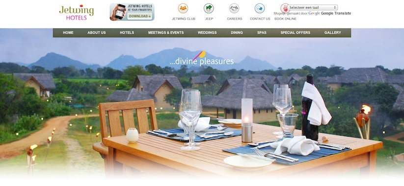 website visuals jetwing hotels