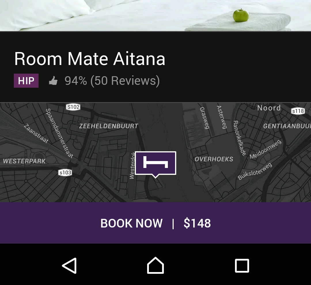 Even HotelTonight, an app with curated inventory, started showing ratings.